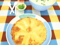 Apfelpfannkuchen mit Kartoffelsuppe Rezept