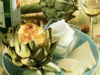 Artischocke mit Käsesouffle-Füllung Rezept