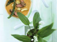 Artischocken-Tomatensuppe mit Lamm und Bärlauch Rezept