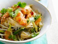 Asiatische Nudeln mit Garnelen Rezept