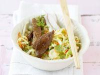 Asiatischer Krautsalat mit Steak Rezept