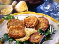 Auberginen im Backteig mit Aioli Rezept