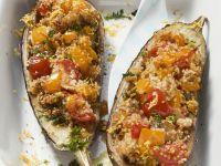 Auberginen mit Couscous-Gemüse-Füllung Rezept
