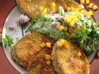 Auberginen-Schnitzel mit Quark Rezept