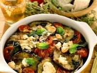 Auberginen-Tomatengratin Rezept