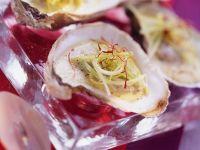 Austern mit Lauchcreme Rezept