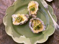 Austern mit Safran und Lauch Rezept