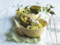 Avocado mit Schafskäse und Grill-Limette Rezept