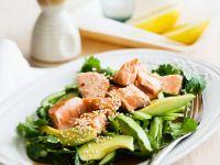 Avocadosalat mit Lachs Rezept