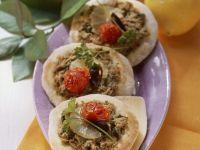 Baby-Pizzen mit Thunfisch und Zitrone Rezept