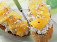 Baguette mit Frischkäse und Orange Rezept
