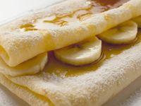 Bananencrêpe mit Ahornsirup Rezept