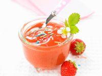 Bananenpüree mit Erdbeeren Rezept