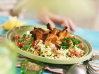 Barbecue-Hähnchen mit Couscous Rezept