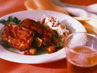 Barbecue-Spareribs mit Krautsalat Rezept
