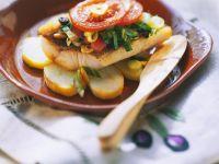 Barsch mit Gemüse aus dem Ofen Rezept