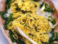 Basilikum-Spaghetti Rezept