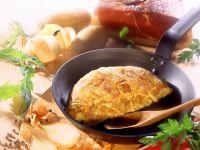 Bauernfrühstück aus Kartoffeln und Schinken Rezept
