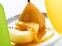Birne mit Mangopüree Rezept