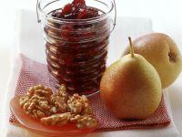 Birnen-Brombeer-Marmelade mit Nüssen Rezept