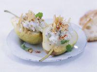 Birnen mit Blauschimmelkäse-Füllung Rezept