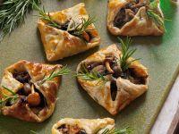 Blätterteig-Pilztaschen Rezept
