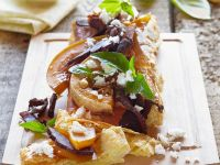 Blätterteigtarte mit Kürbis, Schinken und Käse Rezept