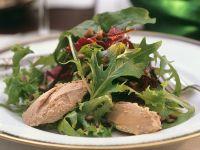 Blattsalat mit Gänselebercreme Rezept