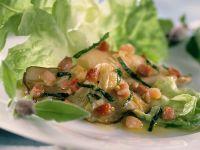Blattsalat mit Pilzen und Speck Rezept
