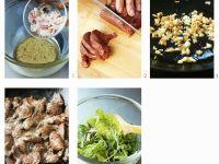 Blattsalat mit Rindfleisch zubereiten Rezept