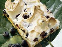 Blaubeer-Baiser-Kuchen Rezept