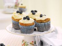 Blaubeer-Bananencupcakes Rezept