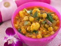 Blumenkohl-Curry mit Kichererbsen