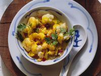 Blumenkohl-Curry mit Krabben Rezept