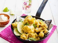 Blumenkohl-Pakoras mit Minze und Limette Rezept