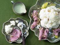 Blumenkohl mit Roastbeef Rezept