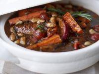 Bohnen-Eintopf mit Würstchen Rezept