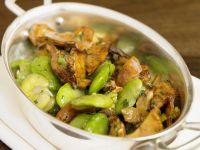 Bohnen mit Pilzen Rezept