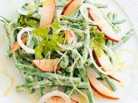 Bohnen-Pfirsichsalat Rezept