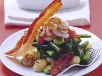 Bohnengemüse mit Tintenfisch Rezept