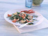 Bohnensalat mit Flusskrebsen Rezept