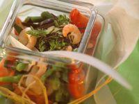 Bohnensalat mit Garnelen und Arame Rezept