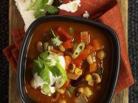 Bohnensuppe auf mexikanische Art Rezept