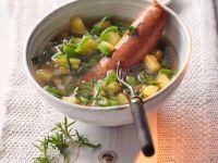 Bohnensuppe mit Wurst Rezept