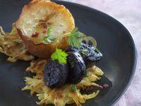 Boudin mit Apfel und Kartoffelrösti Rezept