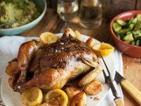 Brathähnchen und Kartoffeln Rezept