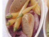 Bratwurst mit Kartoffelbrei