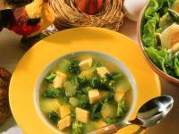 Broccolosuppe mit Eierstich-Einlage Rezept