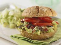 Brötchen mit Salatfüllung Rezept