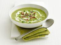 Brokkoli-Bohnen-Suppe mit Bacon Rezept